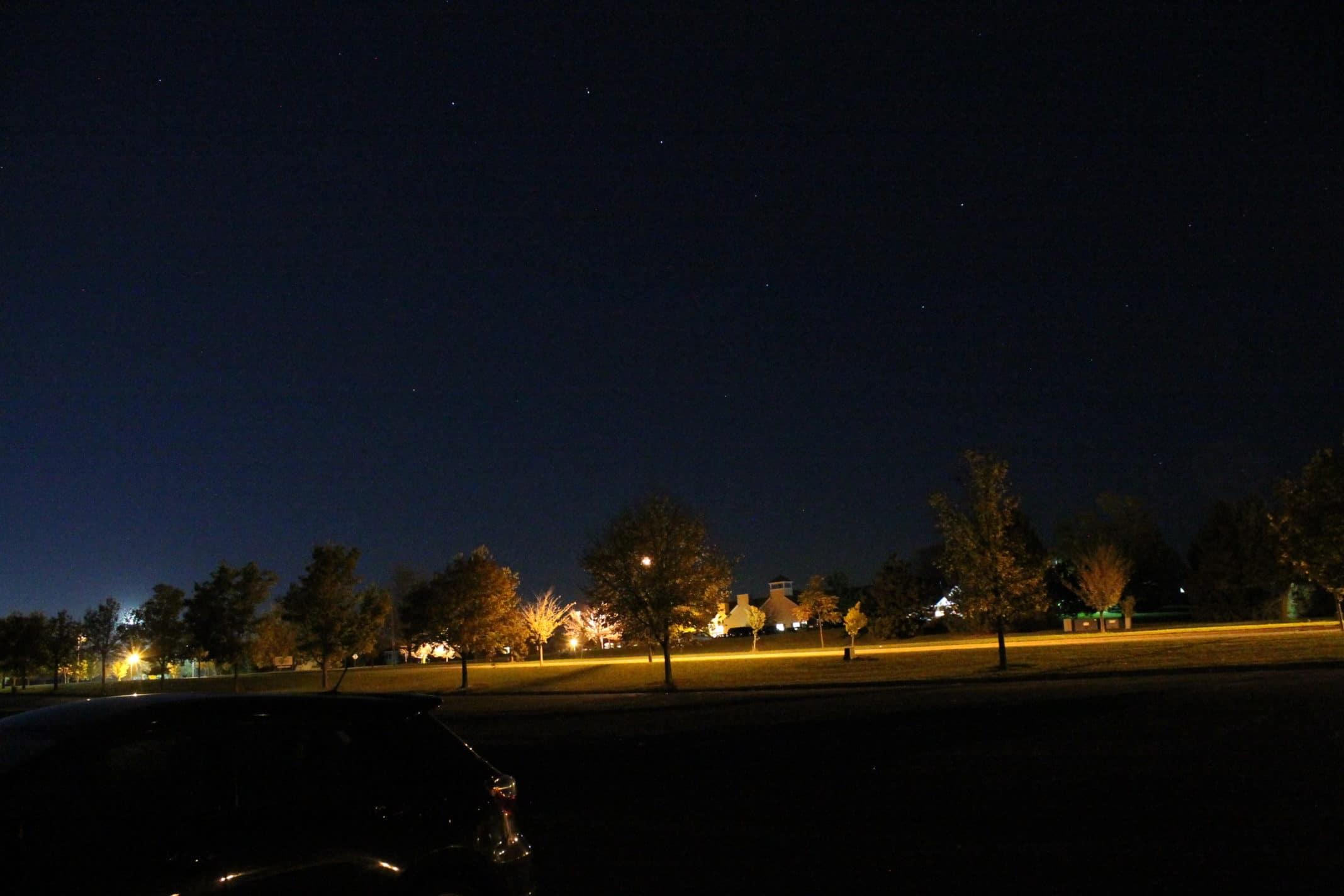 View to North from Soccer fields parking